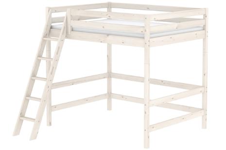 Flexa Classic tweepersoons hoogslaper met schuine ladder (whitewash)