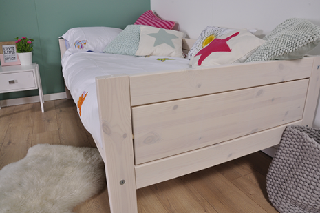 Lifetime Whitewash Bed.Lifetime Basisbed Original Luxe Lattenbodem