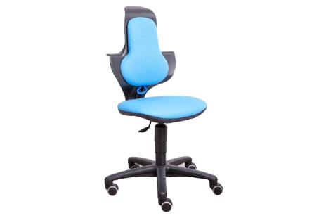 Bureaustoel in hoogte verstelbaar zitting kleur stof Blauw OP = OP