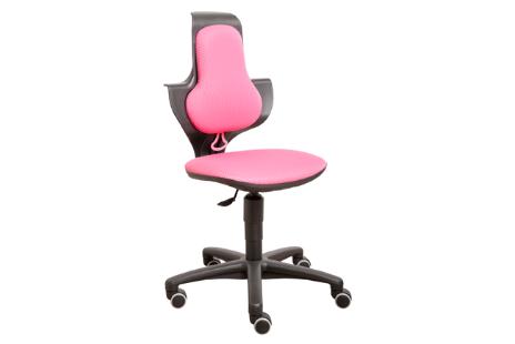 Bureaustoel in hoogte verstelbaar zitting kleur stof roze