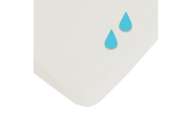 Hoeslaken spierwit/waterproof
