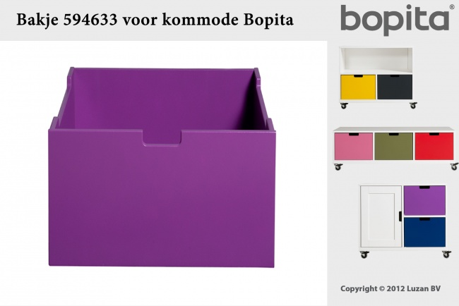 Bopita Bakje medium Paars