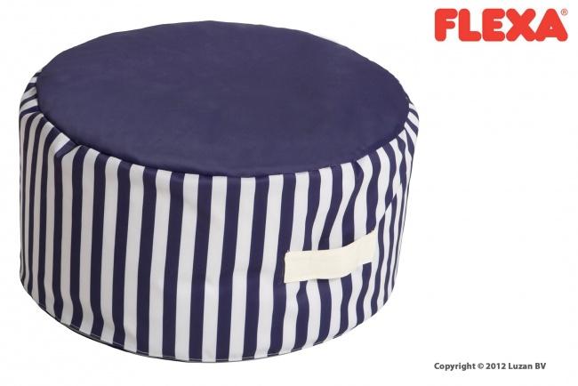 Flexa Zitzak-Poef Blauw