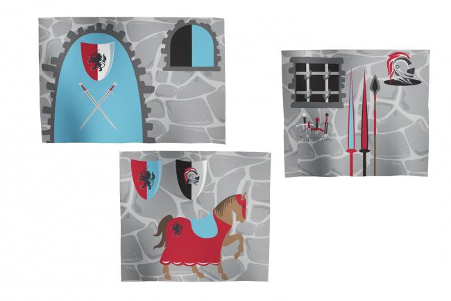 Flexa Ridder Bedtent / Speelgordijn voor ridderbed