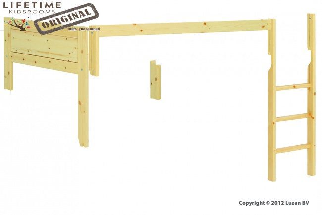 Verhogingsset Stapelbed Schuin  - Trap Recht - Wit Gelakt
