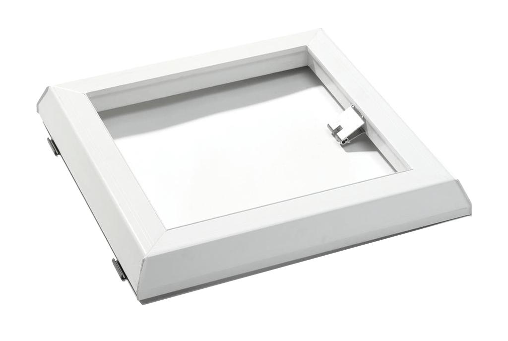 Opzet ventilatieraam PVC, Solo Handmatig, 40 x 40 cm