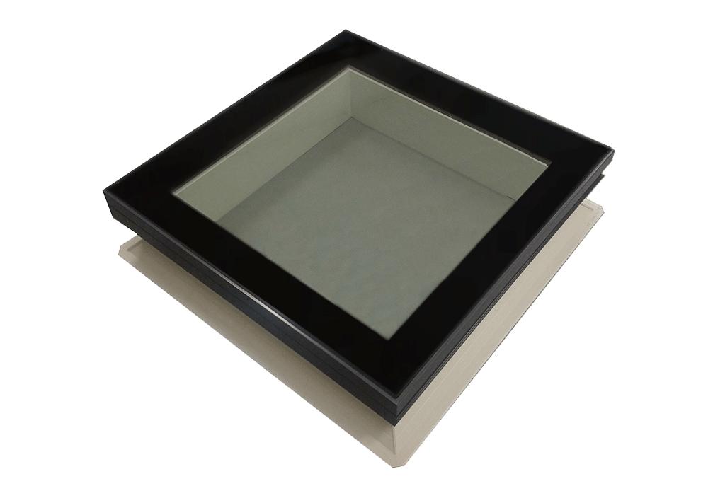 Glazen lichtkoepel inclusief RO16 opstand, dagmaat 70 x 100 cm, HR++ glas
